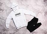 Adidas Originals Brand With мужской белый с лампасами спортивный костюм с капюшоном весна осень. Худи + штаны, фото 3