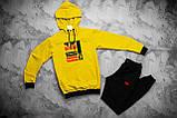 Adidas Originals Brand With мужской белый с лампасами спортивный костюм с капюшоном весна осень. Худи + штаны, фото 4
