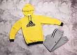 Adidas Equipment мужской желтый спортивный костюм с капюшоном весна осень.Adidas Худи + штаны комплект, фото 5