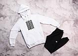 Adidas  мужской серый спортивный костюм с капюшоном весна осень.Adidas Худи серое +штаны бордовые комплект, фото 4