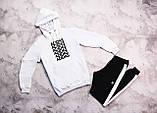 Adidas  мужской серый спортивный костюм с капюшоном весна осень.Adidas Худи серое +штаны бордовые комплект, фото 6