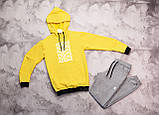Adidas мужской белый с лампасами спортивный костюм с капюшоном весна осень.Adidas Худи + штаны с лампасами, фото 4