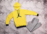 Jordan  мужской белый + черный спортивный костюм с капюшоном весна осень.Jordan Худи белое Jordan штаны черные, фото 3