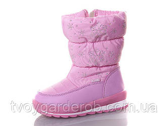 Зимние детские сапоги для девочки р 25-28 (код 4132-00)