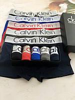Відмінний набір нижньої білизни Calvin Klein, чоловічі труси Кельвін Кляйн, класичні боксерки 5 шт. Репліка!, фото 4