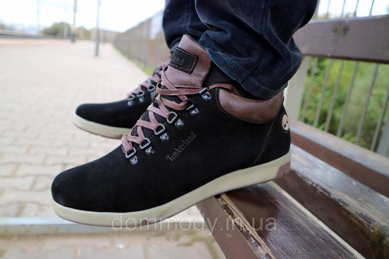 Ботинки мужские из замши Timberland зимние