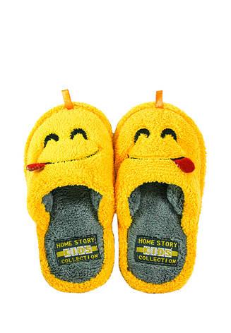 Тапочки кімнатні дитячі Home Story жовтий 21780 (29), фото 2
