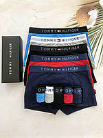 Отличный набор мужские трусы Tommy Hilfiger нижнее белье, боксеры 5 шт Реплика!, фото 5