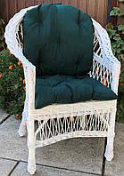 Кресло плетеное с натуральной лозы с накидкой, фото 1