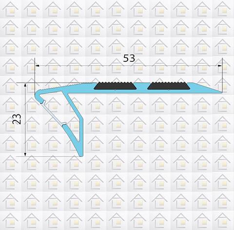Алюминиевый профиль для ступенек с подсветкой, фото 2