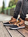 Чоловічі кросівки Nike Lunar Force 1 Duckboot Коричневі (Репліка ААА+), фото 6