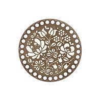 Донышко из фанеры круглое окрашенное 14 см,цвет Каштан