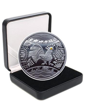 """Срібна монета """"Рік Півня"""""""