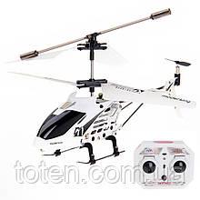 Радиоуправляемый вертолет 3-х канальный, металл каркас, дист 20м, usb кабель, зарядка в пульте 33008 Белый