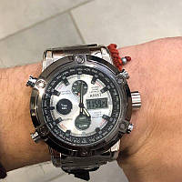 Оригинальные мужские наручные часы AMST 3022 Metall Silver-Black-Silver