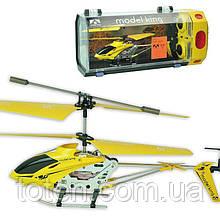 Радиоуправляемый вертолет 3-х канальный, металл каркас, дист 20м, usb кабель, зарядка в пульте 33008