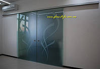 Стеклянные раздвижные двери Agile-150 Dormotion (с доводом двери), фото 1