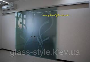 Стеклянные раздвижные двери Agile-150 Dormotion (с доводом двери)