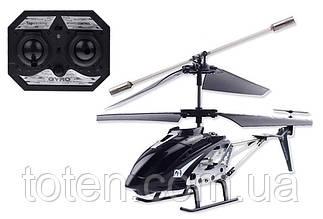 Радиоуправляемый вертолет 3-х канальный, металл каркас, дист 20м, usb кабель, зарядка черный 33008