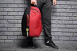 Спортивный городской рюкзак Puma Scuderia Ferrari пума Феррари Красный Vsem, фото 6