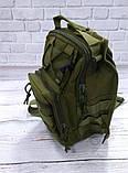 Тактическая сумка-рюкзак, барсетка на одной лямке, хаки. T-Bag 3 Vsem, фото 8