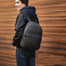 Стильный кожаный повседневный рюкзак Giorgio Armani армани Черный ViPvse