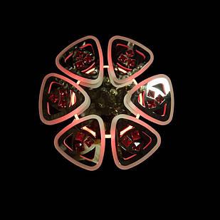 Светодиодная LED люстра СветМира 110 Вт с подсветкой и регулировкой яркости LS-7124/6 CH