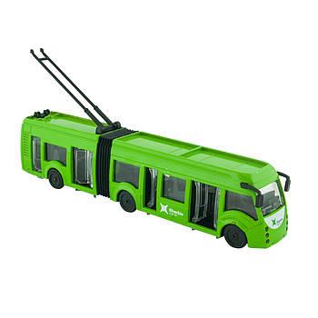 Игрушечная машинка троллейбус Харьков Technopark Зеленый (SB-18-11WB(NO IC)