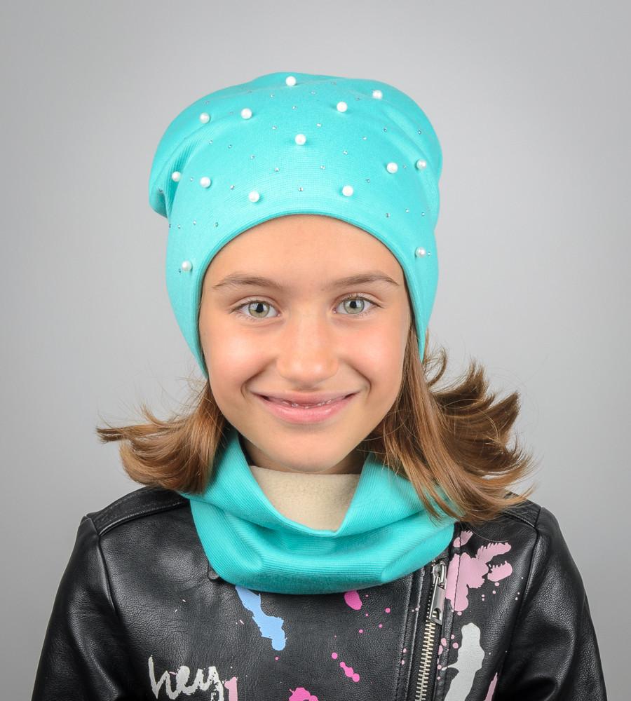 Комплект молодёжный с бусинами Катрин (20207), Бирюзовый