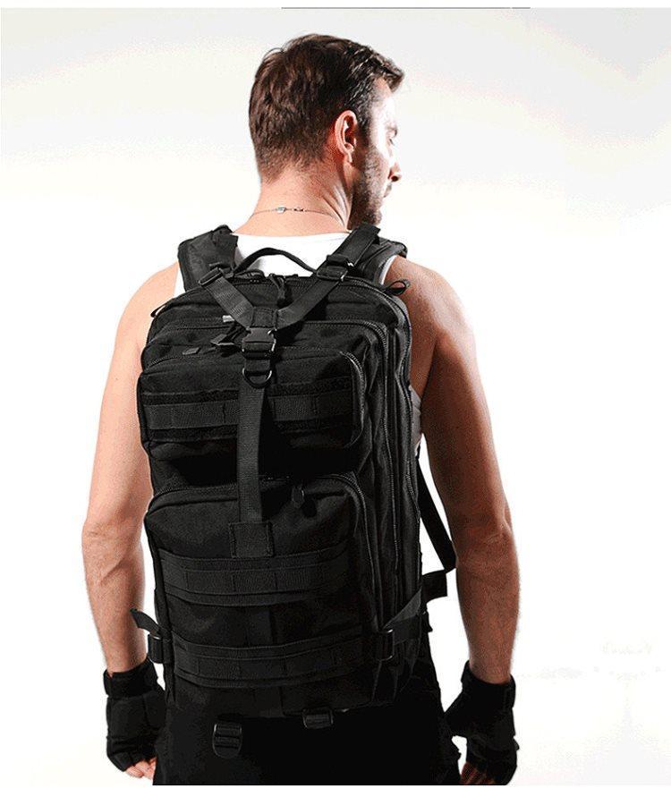 Тактический походный военный рюкзак Military 25 L Черный T410 Vsem