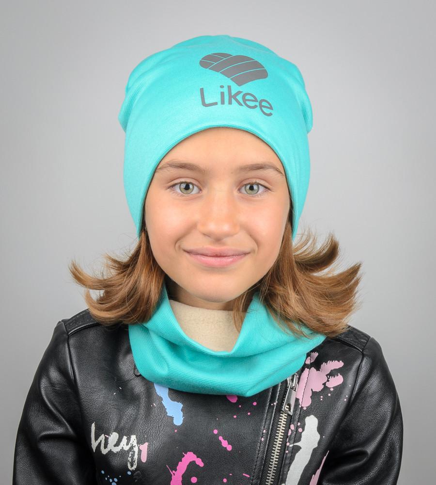 Комплект молодёжный светоотражющий принт LIKEE (20208), Бирюзовый