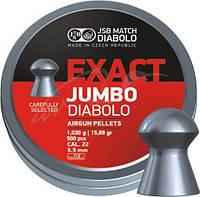 Пули пневматические JSB Diabolo Exact Jumbo. Кал. 5.52 мм. Вес - 1.03 г. 250 шт/уп