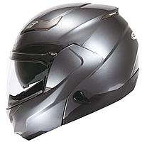Мотошлем модуляр  ZEUS  ZS-3100 Titanium - глянцевый, шлем трансформер с солнцезащитными очками