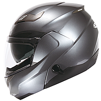 Мотошолом модуляр ZEUS ZS-3100 Titanium - глянцевий, шолом трансформер з сонцезахисними окулярами