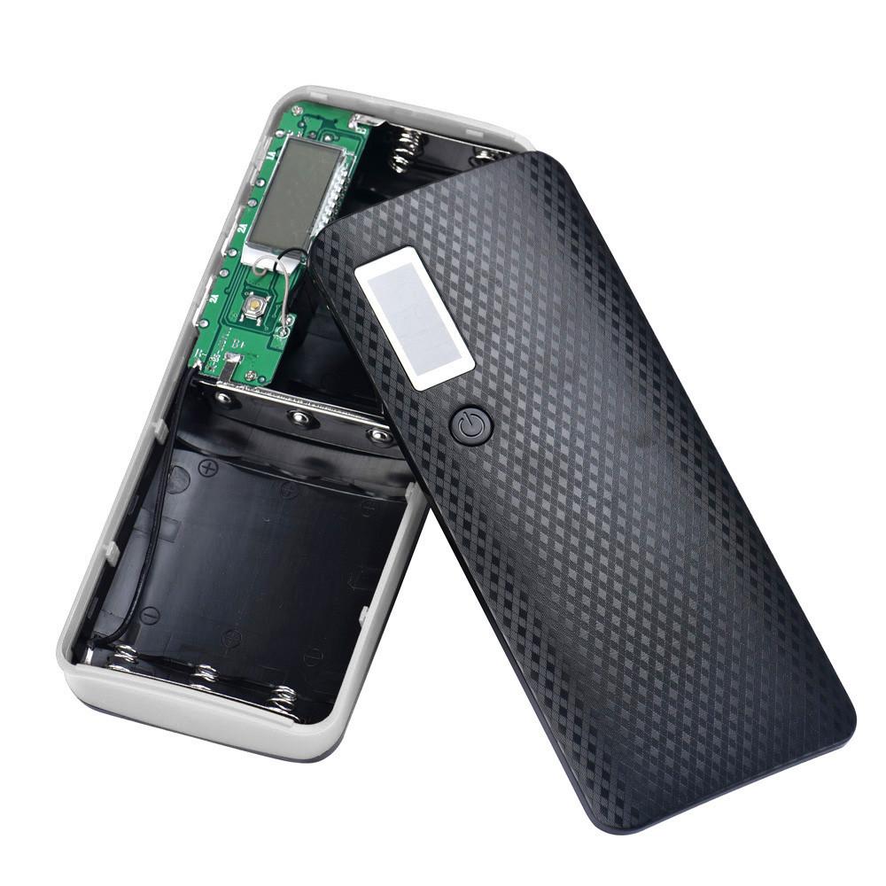 Пластиковый корпус для повербанк 5шт х 18650 шт (без аккумуляторов), черный