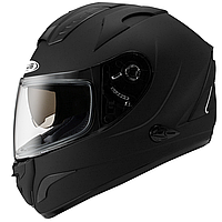 Мотошолом інтеграл ZEUS ZS-806F Black - чорний глянсовий з сонцезахисними окулярами