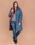 Braggart Youth 25695 | Длинная женская куртка большого размера темно-голубая, фото 2