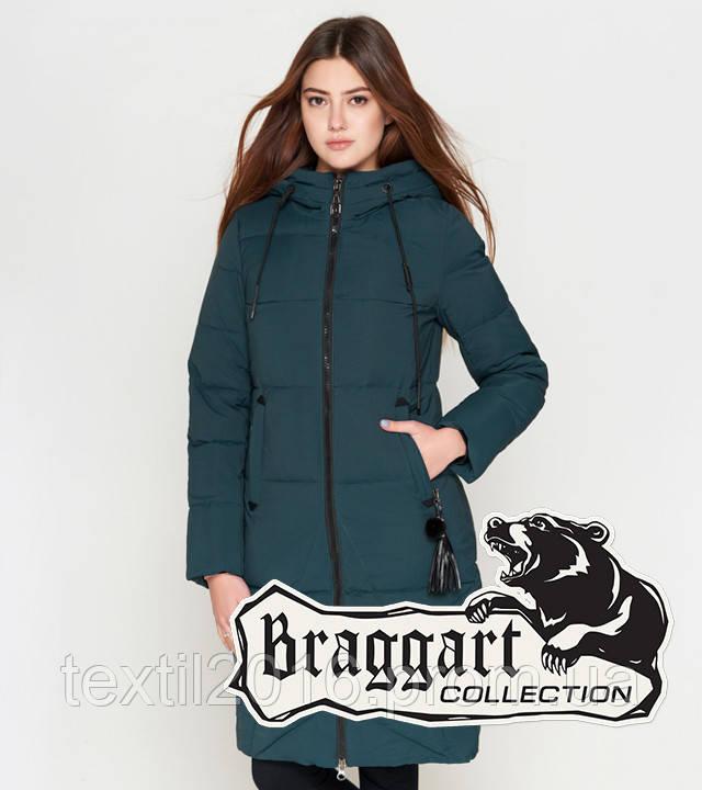 Braggart Youth | Удлиненная женская куртка 25205 бирюза
