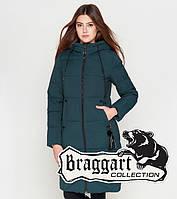 Braggart Youth | Удлиненная женская куртка 25205 бирюза, фото 1