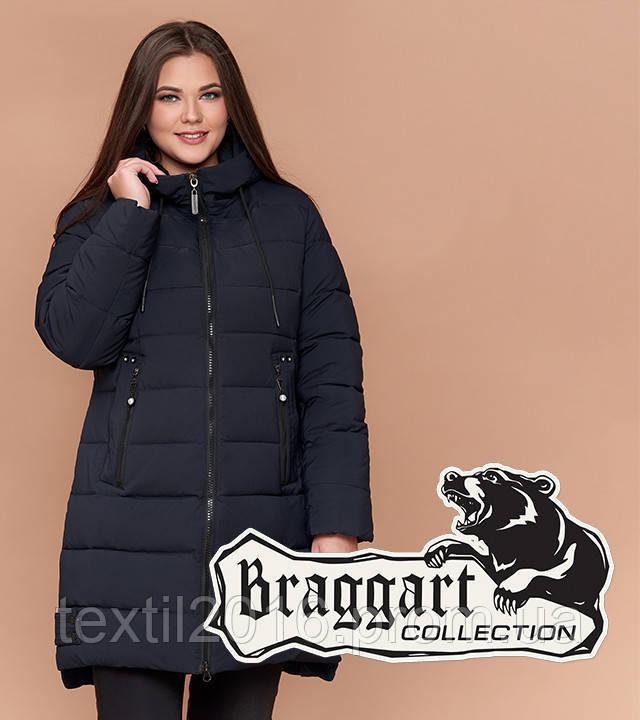 Braggart Youth 25225 | Длинная куртка женская большого размера темно-синяя