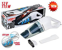 Автомобильный пылесос VOIN VC-280 Led фонарь, сухая чистка 12V / 115W