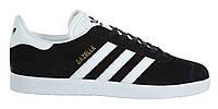 """Женские Кроссовки Adidas Gazelle """"Black White"""" - """"Черные Белые"""" (Копия ААА+)"""