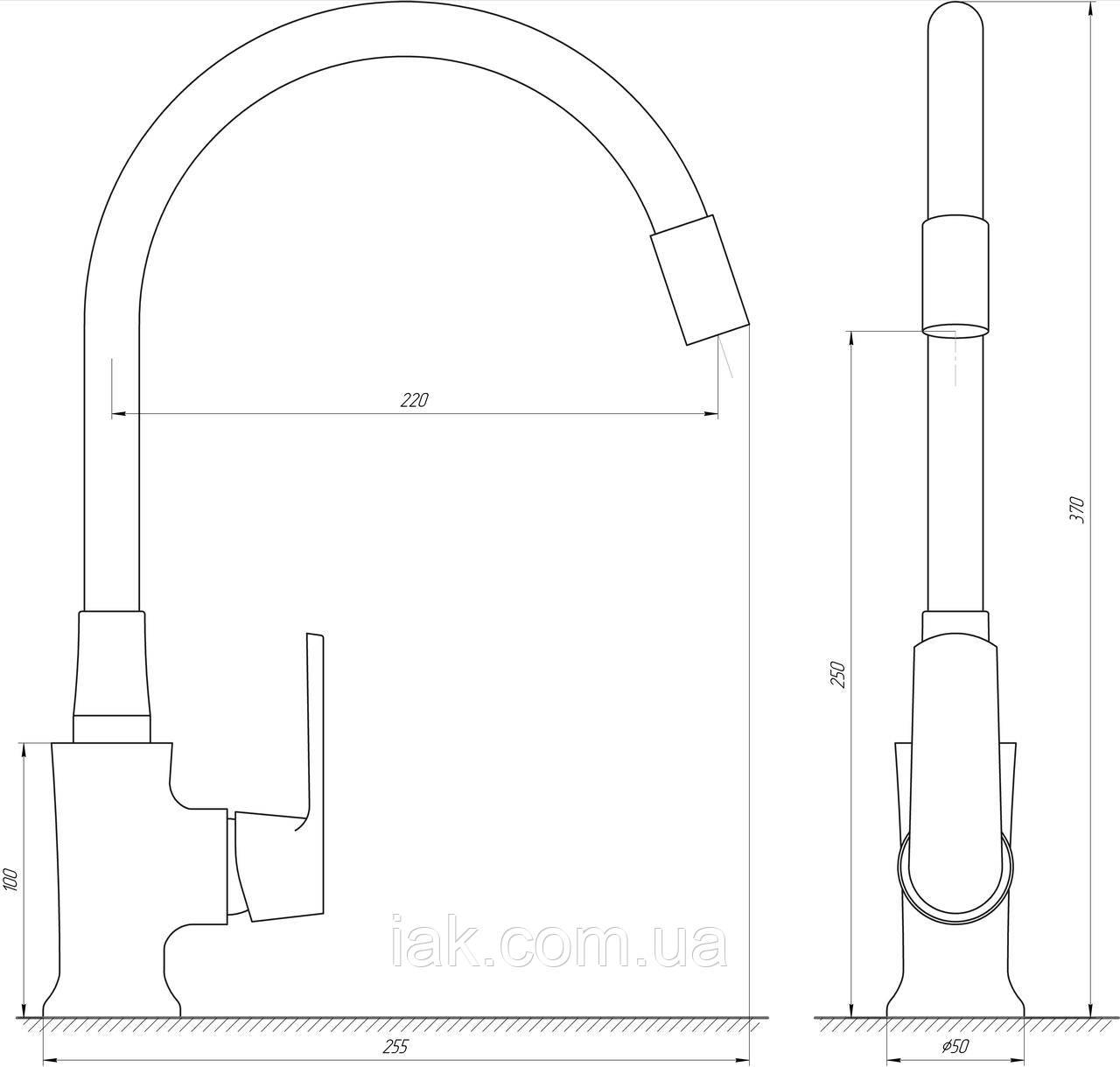 Смеситель для кухни Globus Lux Laguna GLA-0203SL-SB