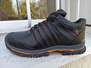 Мужские кожаные зимние кроссовки 45 размер