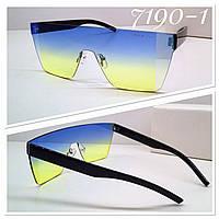 Женские солнцезащитные брендовые стильные очки маска реплика, высокого качества