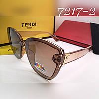 Женские солнцезащитные брендовые стильные очки с поляризацией, люкс реплика
