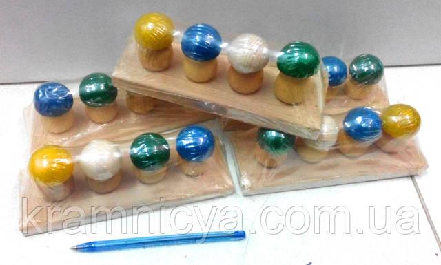 Развивающие деревянные игрушки Собери Грибочки. Купить в интерент-магазине Крамниця Творчості