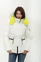 Короткий женский пуховик куртка Peercat 20-922 белого цвета, фото 1