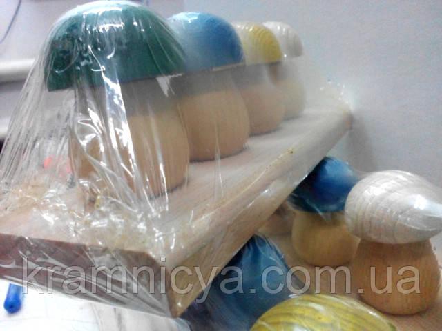 Развивающие деревянные игрушки Грибочки от 1 года . Купить в интерент-магазине Крамниця Творчості