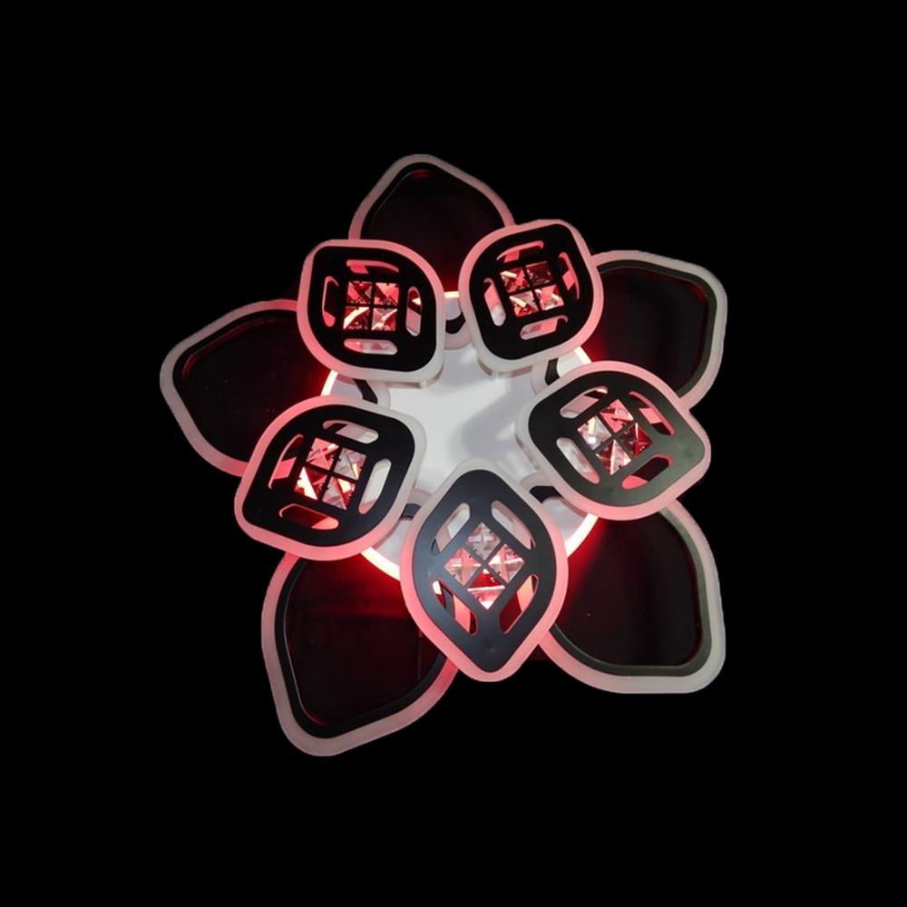 Светодиодная LED люстра СветМира 165 Вт с подсветкой и регулировкой яркости LS-7123/5+5